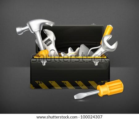 Black toolbox, 10eps