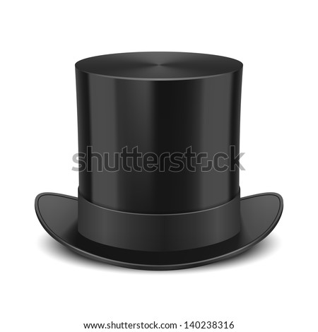 Black Top Hat vector illustration isolated on white background Сток-фото ©