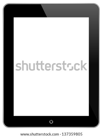 Black Touch Screen Tablet In iPad Style
