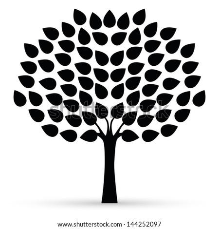 Black tree isolated