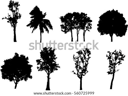 black tree vector black tree