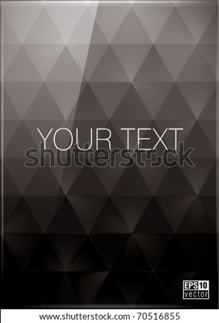 black triangles background with dark and bright parts, eps10 vector - stock vector