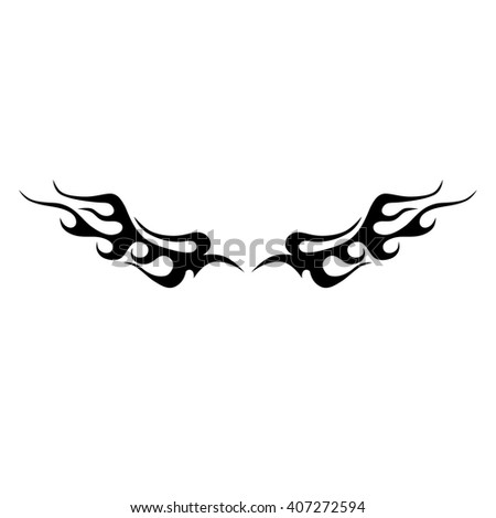 Black tribal flames for tattoo or another design.