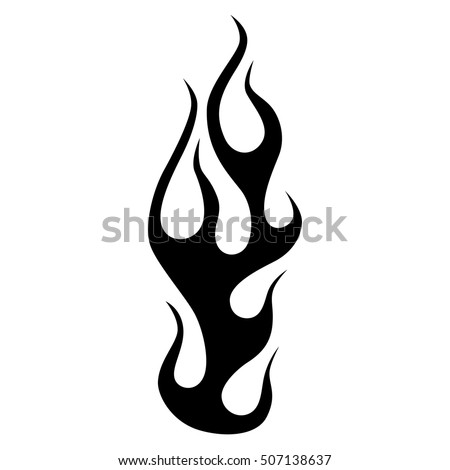 black tribal flames for tattoo