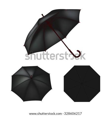 black umbrella vector isolated