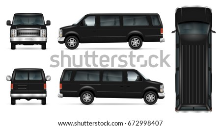 black van vector template for