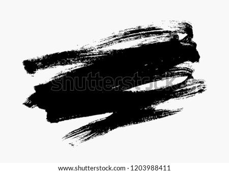 black vector brush stroke