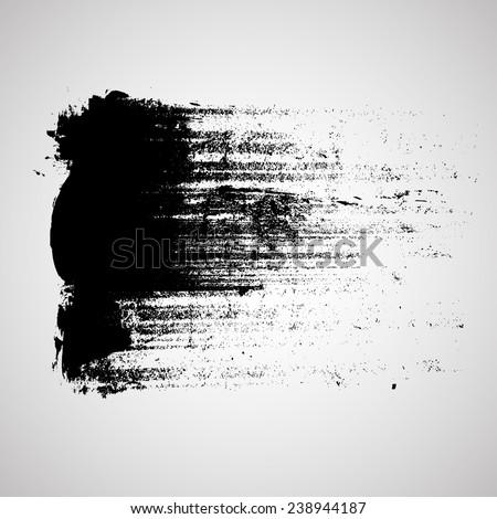 Black Vector Brush Strokes Banner Design Vector Grunge Logo Design Template