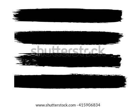 Black vector brush strokes collection #415906834