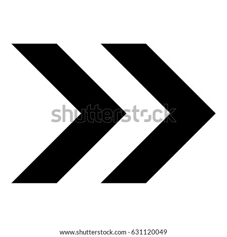 Black vector double chevrons pointing right