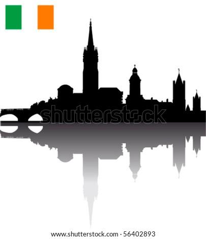 black vector dublin silhouette
