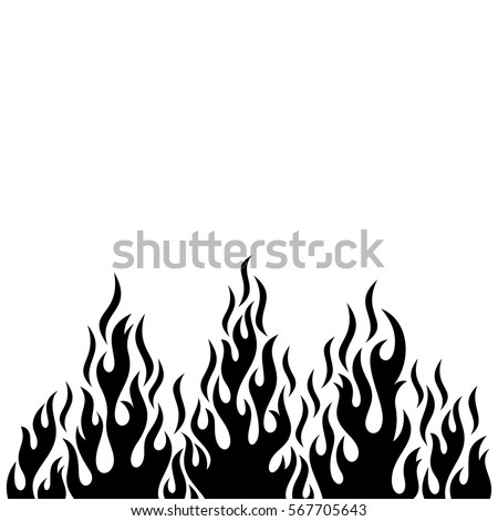 black vector fire flame design