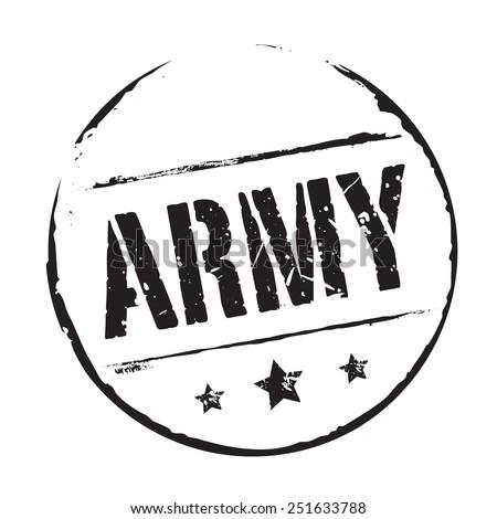 black vector grunge stamp army