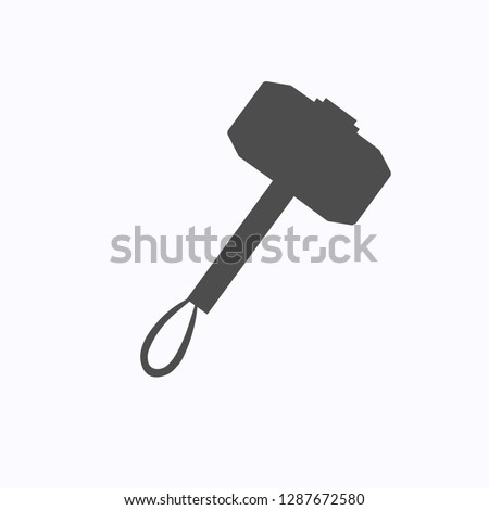 black vector hammer with handle