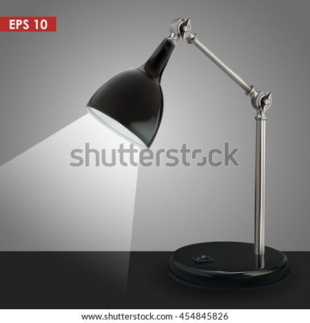 black vector lamp