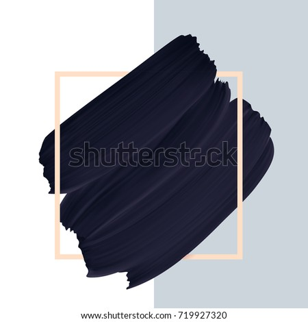 black vector paint brush