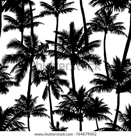 black vector palm trees