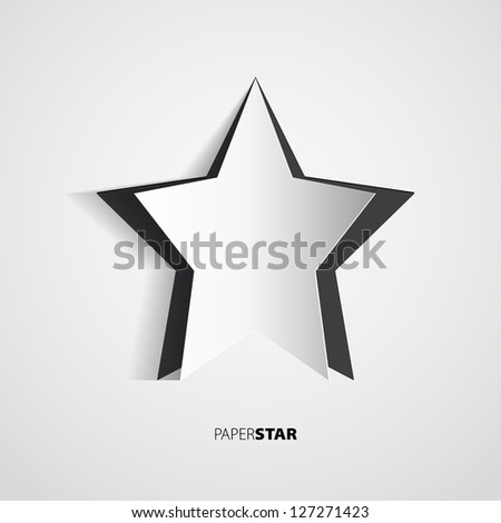 black vector paper star motive