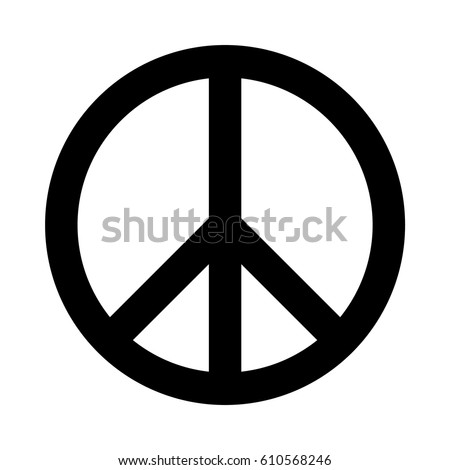 Black vector peace sign.