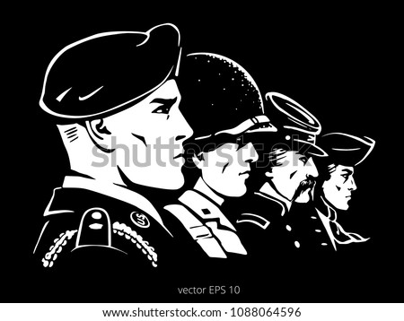 black vector poster with a