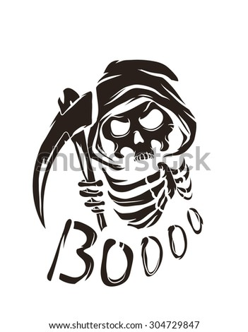 black vector poster with death