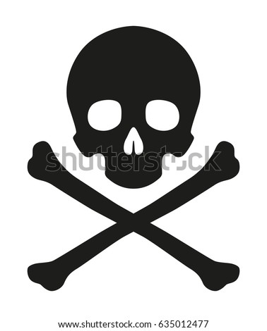 Skull And Crossbones Illustration Symbol Of Danger Raster Version