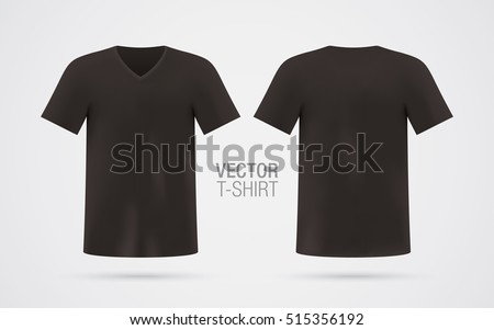 black vector v neck t shirt