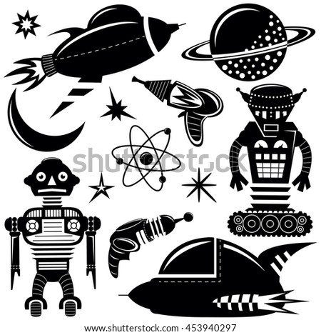 black vector wall stickers