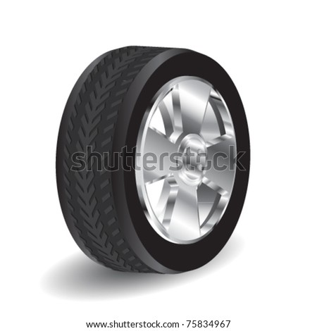 black vector wheel