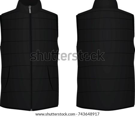 Black vest. vector illustration Foto stock ©