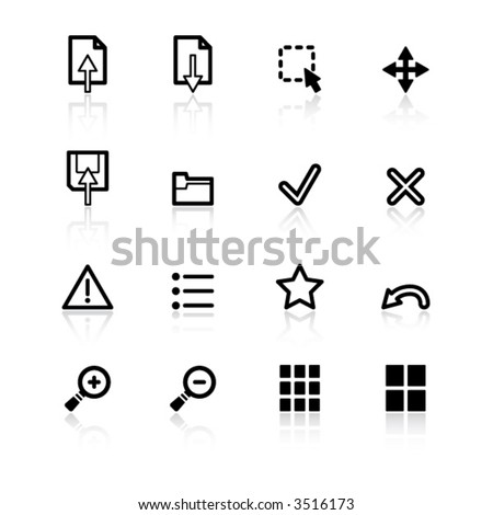 black viewer icons