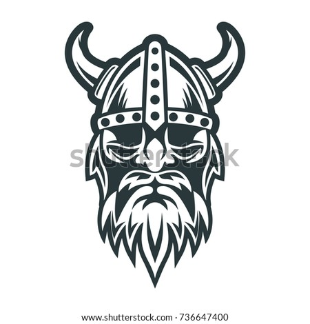 Viking Skull With Crossed Axes Vector Illustration Ez Canvas