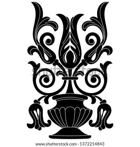 a1eaaabfde095 tattoo mask #23035654 · Black vintage baroque ornament, corner. Retro  pattern antique style acanthus. #1372214843
