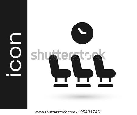 black waiting room icon