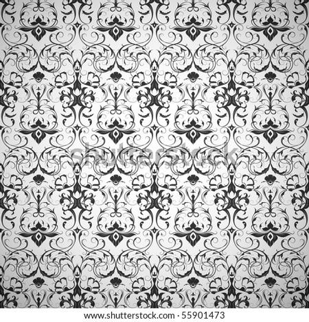 Black Wallpaper pattern, seamless