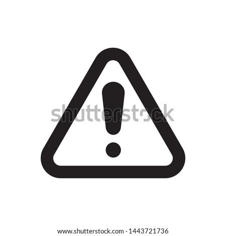 Black warning sign. exclamation, alert