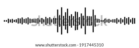 Black waves as equalizer isolated on black background. Vector Illustration Stock photo ©