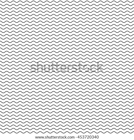 black wavy line seamless...
