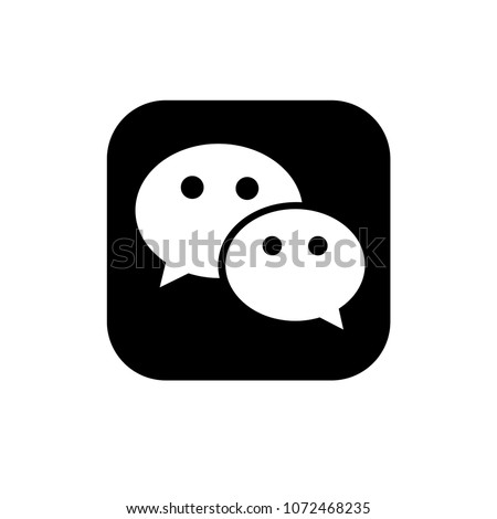 Black WeChat vector icon