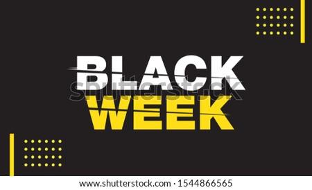 Black Week Template Sale Promotion Stockfoto ©