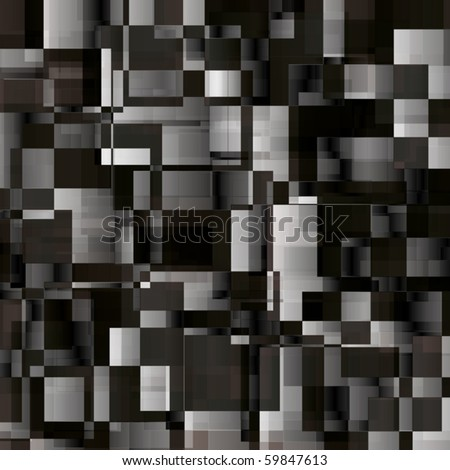 Black white and grey abstract background from rectangles - stock vector