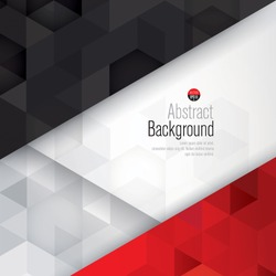 Black, white and red background vector. Can be used in cover design, book design, website background, CD cover, advertising.