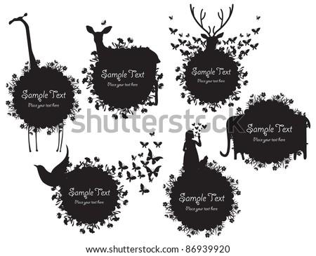 black   white animal vector