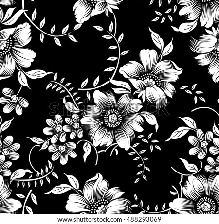 black white flowers