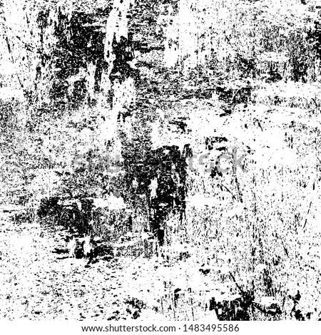 Black white grunge. Gloomy abstract monochrome background. Smudge. Worn texture