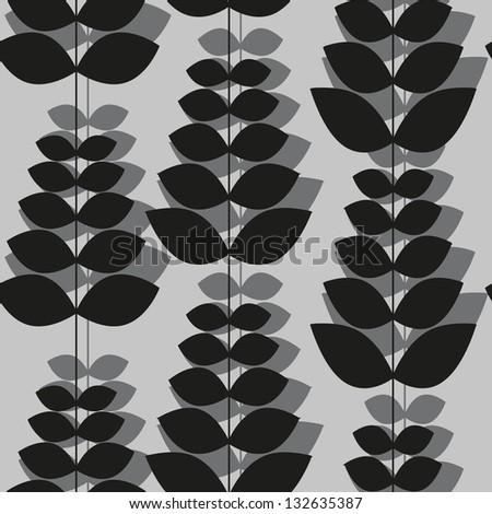 black white pattern of flowers