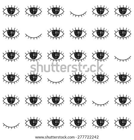 black   white seamless pattern