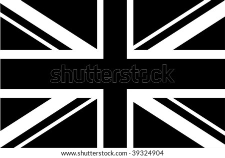 black   white union jack