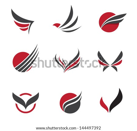 Vector Images Illustrations And Cliparts Black Wing Logo Symbol