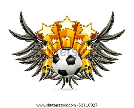 Black Wings Emblem, vector - stock vector